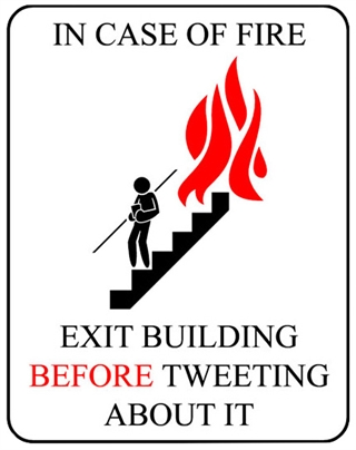 FireX - Professionals in Brandpreventie - Exit building before tweeting